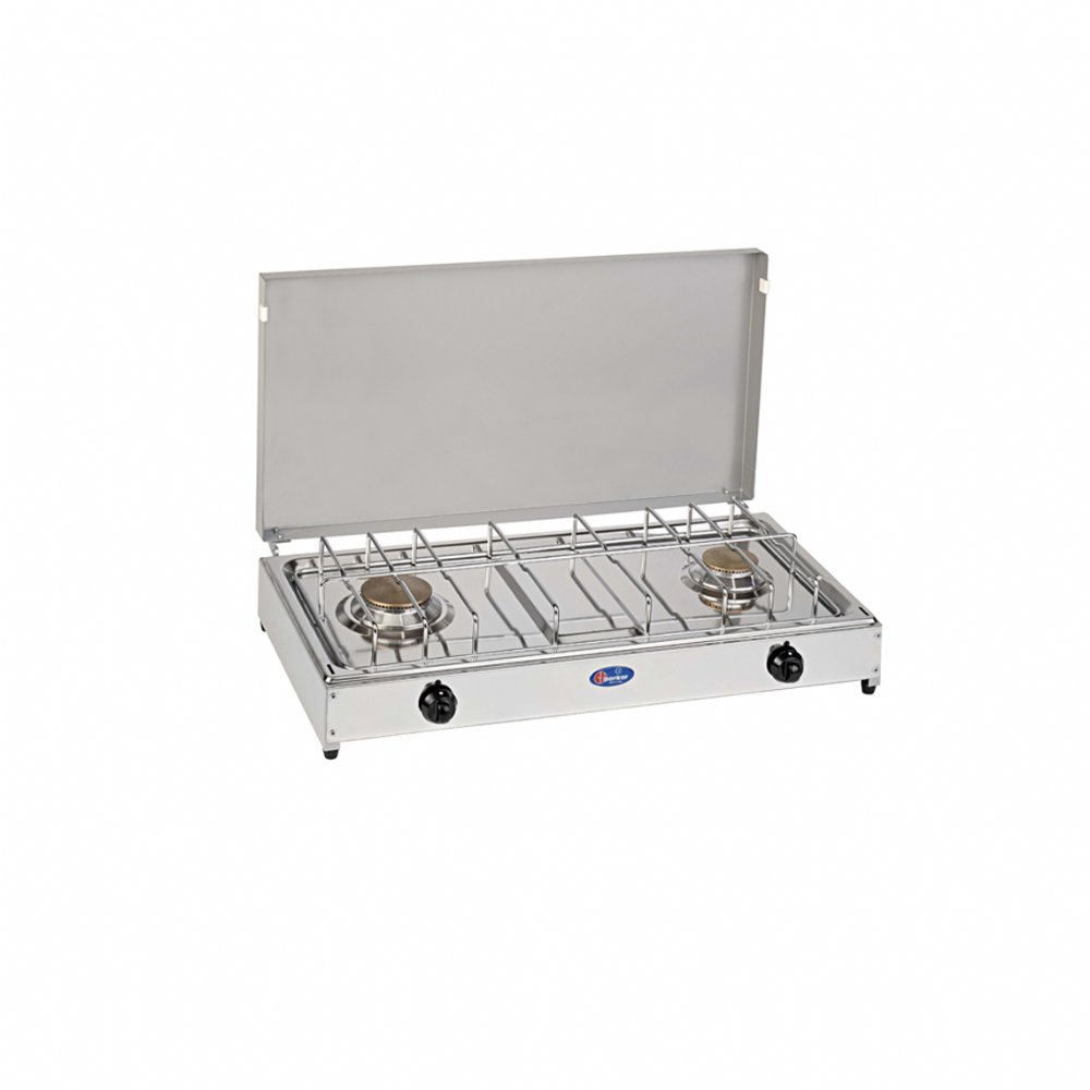 2 burners gas stove for outdoor use mod. 5522G . Color: Grey