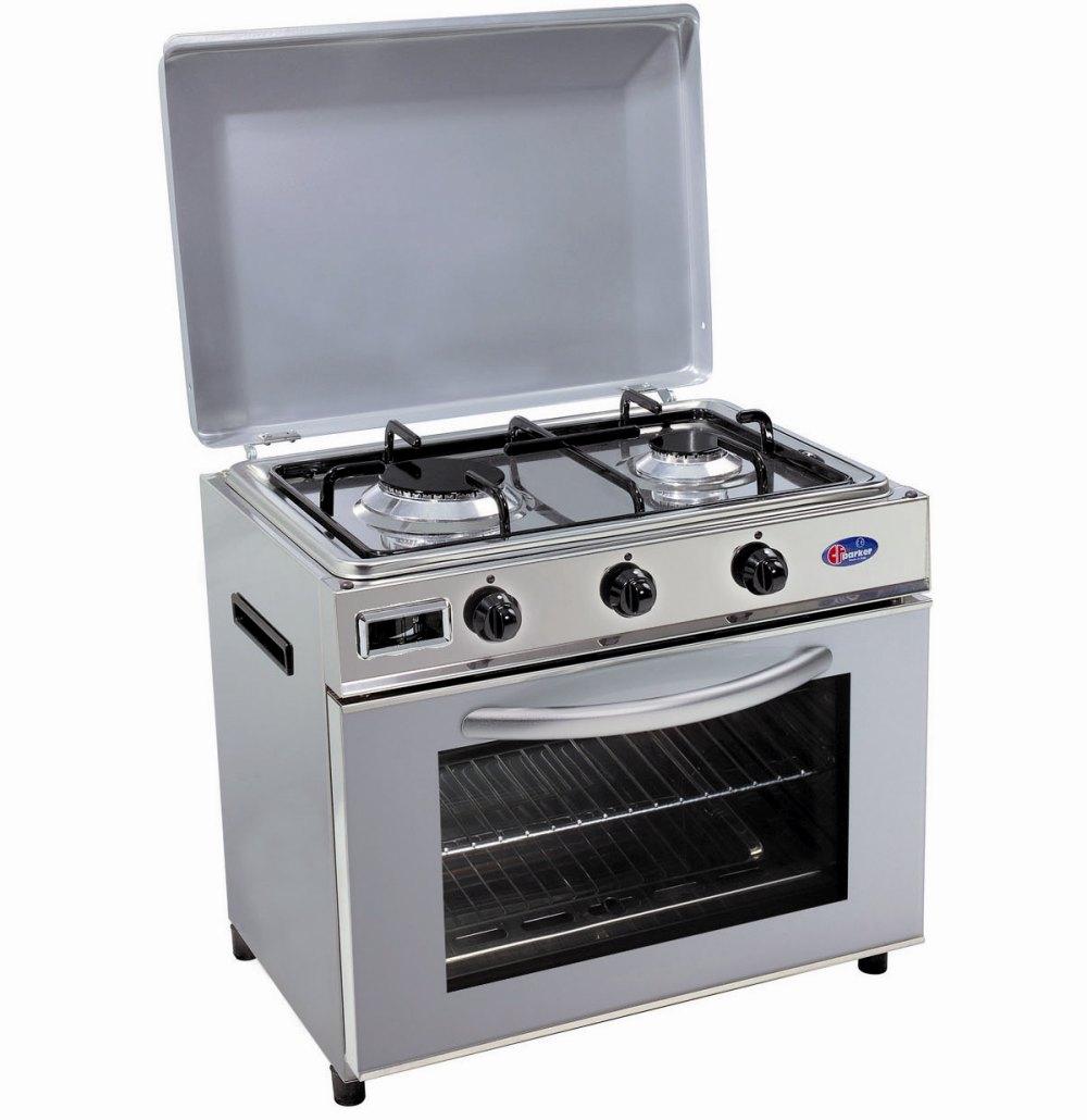 Baby cucina a gas metano per uso domestico mod. FO600 SAGGPm/G. Colore: Grigio