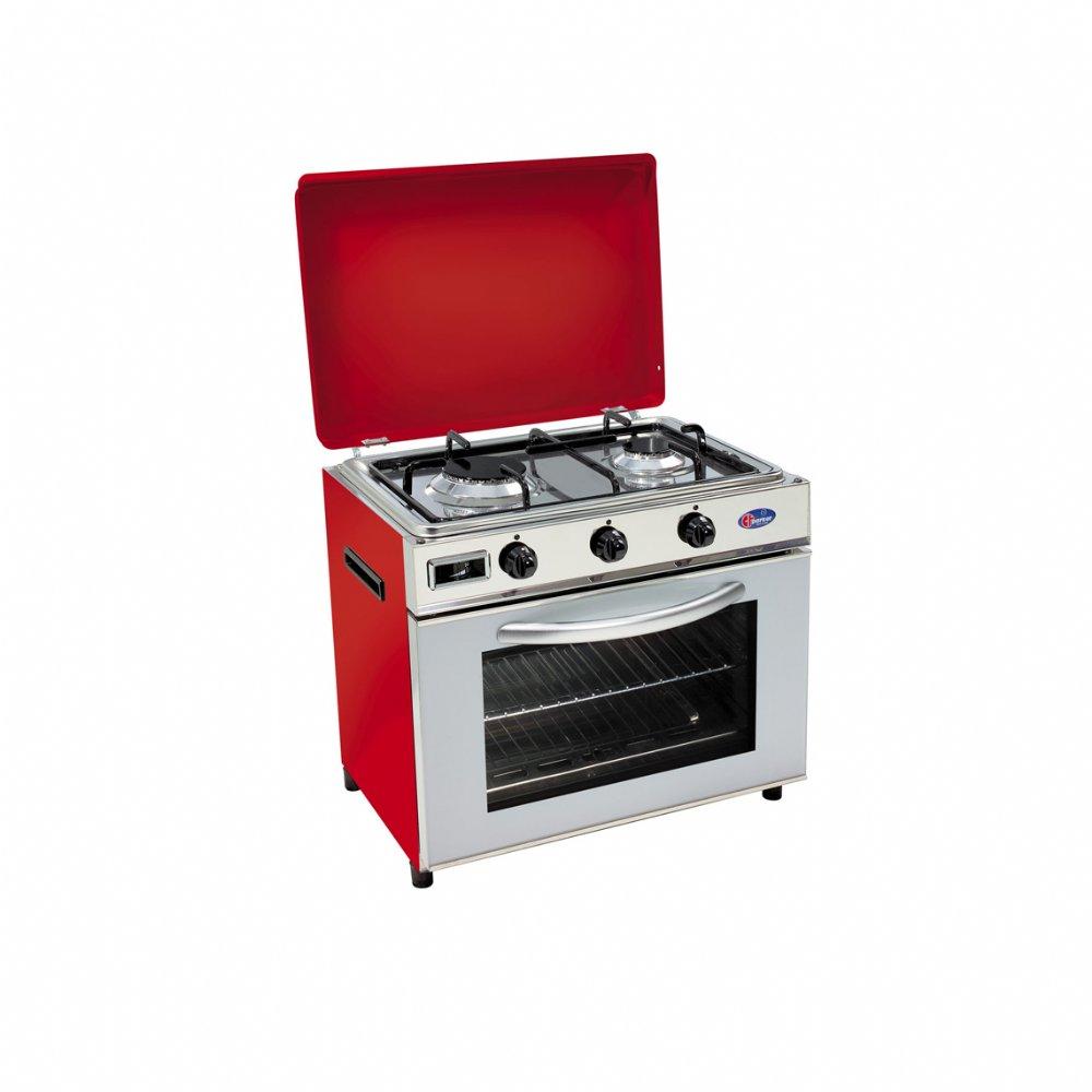 Baby cucina a gas metano per uso domestico mod. FO600 SRGPm/G. Colore: Rosso
