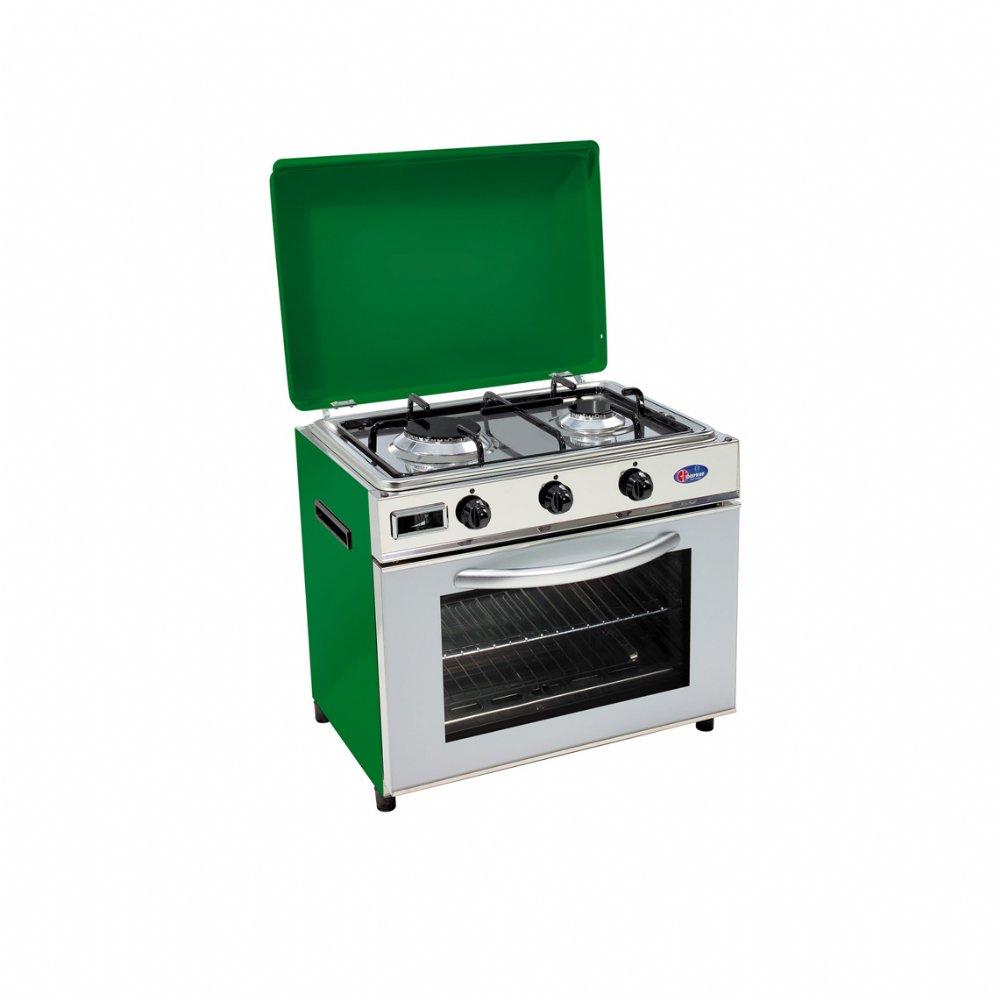 Baby cucina a gas per uso domestico mod. FO600 SVGP/C/G. Colore: Verde