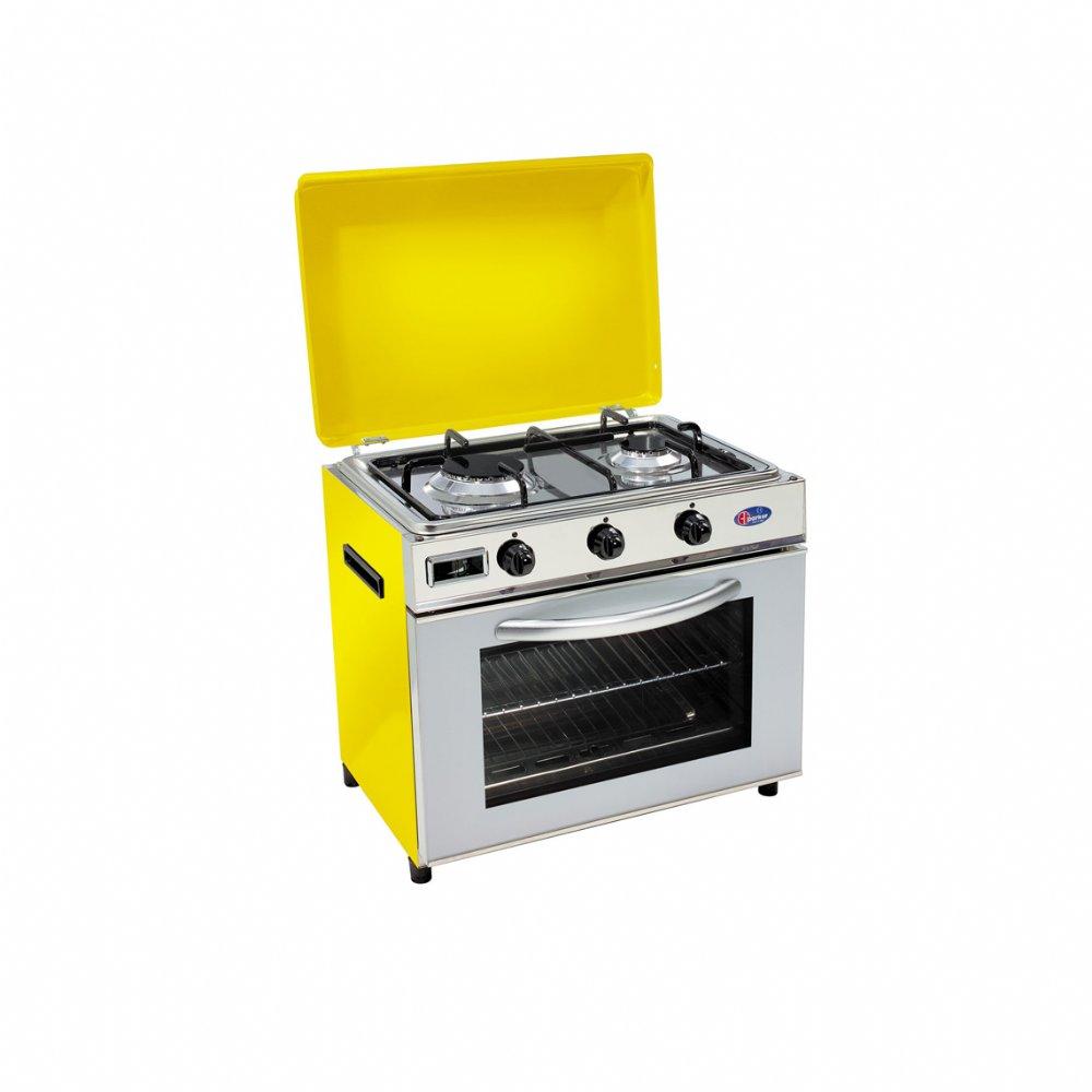 Baby cucina a gas metano per uso domestico mod. FO600 SYGPm. Colore: Giallo