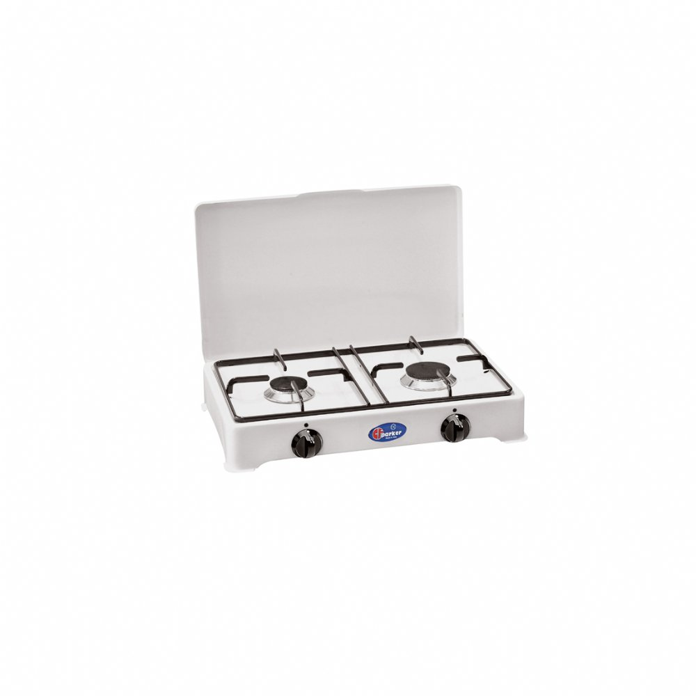 2 burners natural gas stove with safety valve for indoor use mod. 2002 GPSm
