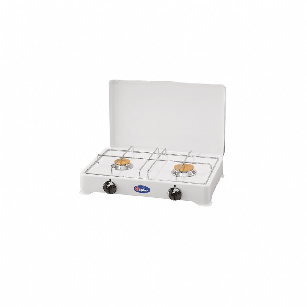 2 burners gas stove with safety valve for indoor use mod. 2002 S  (50 mbar)
