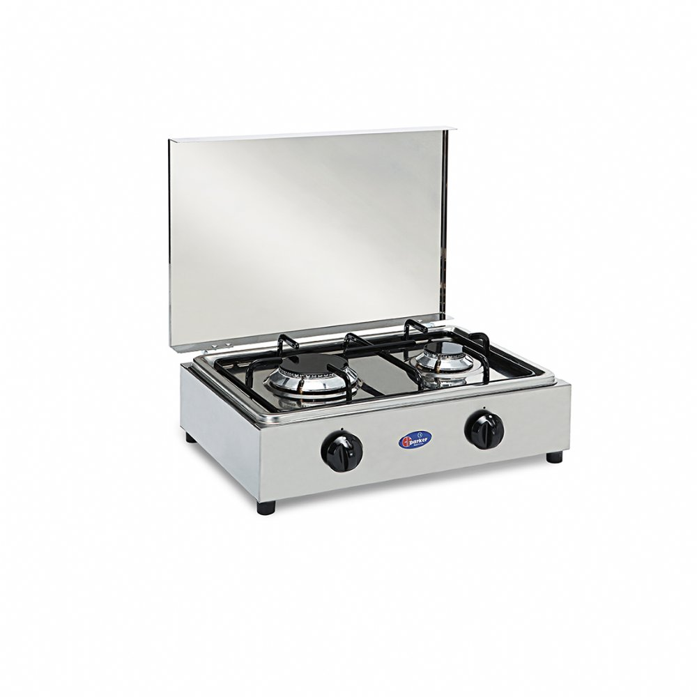 2 burners natural gas stove for indoor use mod. 200 ACCGPSm
