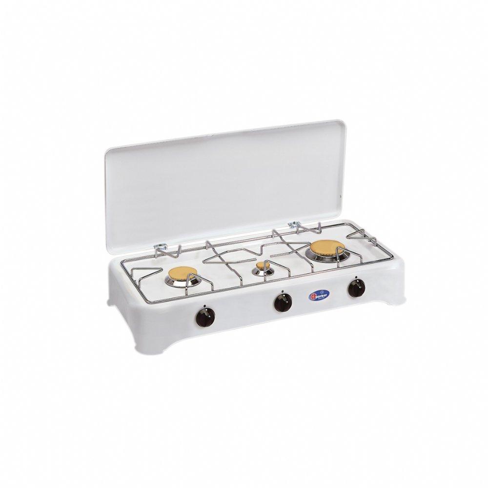 Fornello a gas a 3 fuochi per uso domestico mod. 5324 S (50 mbar)