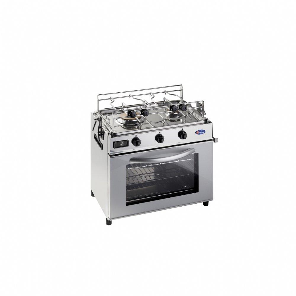 Baby cucina per la nautica in acciaio inox 18/10 mod. FO600NA (50mbar)