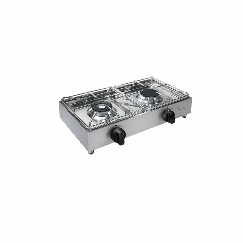 Fornello a gas da banco 2 fuochi mod. BIG5002L 1 (kW 3,5 + kW 3,5)