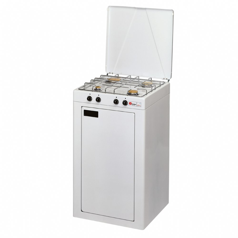 Gas bottle closet + 4 burners gas stove for outdoor use mod. 541