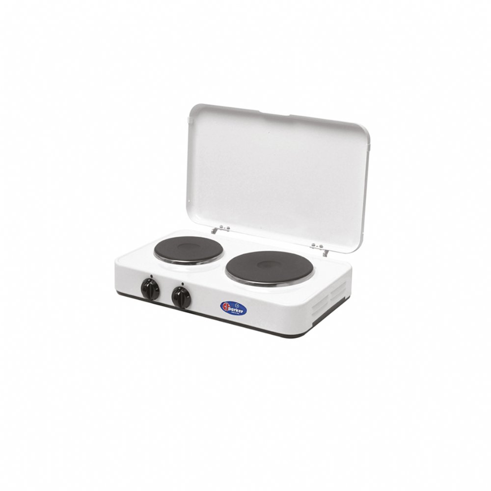 2 plates electric stove with cover mod. 5322 P C