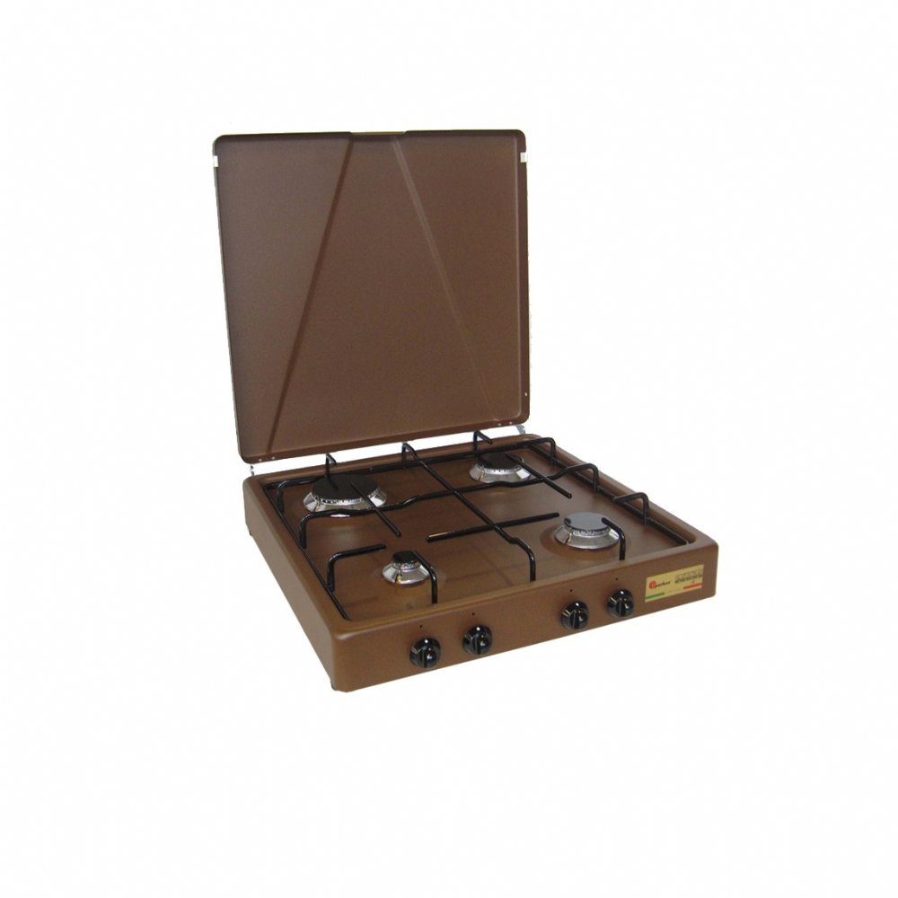 4 burners natural gas stove for outdoor use mod. 542 GPm CORTEN