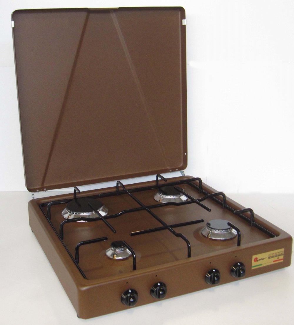 Fornello a gas a 4 fuochi per uso domestico mod. 542 GPS CORTEN