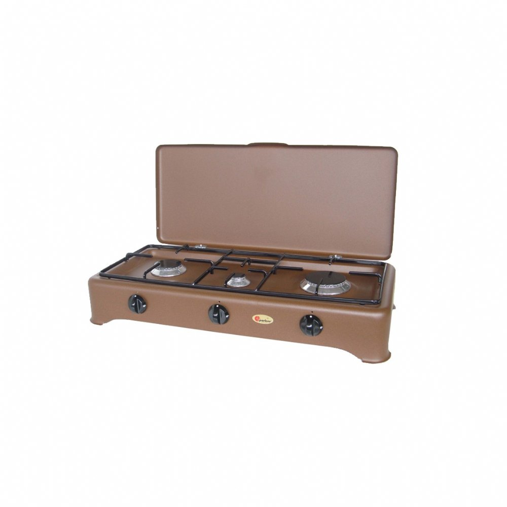 3 burners natural gas stove for outdoor use mod. 5324 GPm CORTEN